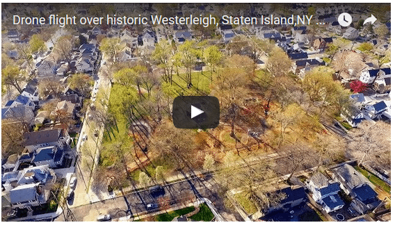 Drone flight over historic Westerleigh, Staten Island,NY